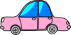 Car Pink Transport Cartoon Clip Art