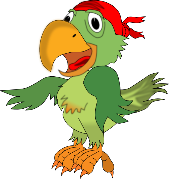 Pirate Parrot Clip Art at Clker.com - vector clip art ...