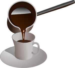 Turkish Coffee Being Served Clip Art