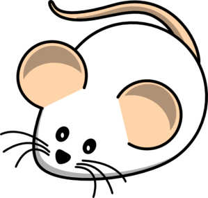 White Field Mouse Clip Art