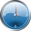 A Blue And Chrome Clock Clip Art