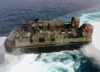 Hopper 36 From Assault Craft Unit Four (acu-4) Departs The Uss Kearsarge (lhd 3) During Landing Craft Air Cushion (lcac) Operations In The Arabian Gulf. Clip Art