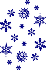 Blue Snow Flakes Clip Art