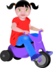 Toddler On Tricycle Clip Art