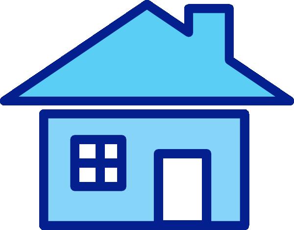 clip art blue house - photo #3