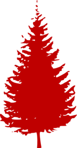 Red Evergreen Tree Clip Art