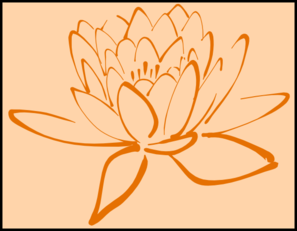 Orange Lotus On Orange Clip Art