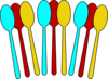 Colorful Spoons-not Opaque Clip Art
