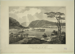 View From Fishkill Looking To West Point  / Painted By W. G. Wall ; Engraved By I. [i.e. John] Hill. Image