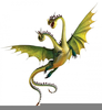 Winged Dragons Clipart Image