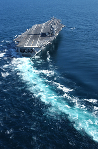 Uss John C. Stennis (cvn 74) Underway Off The Coast Of Southern California. Stennis Is Conducting Propulsion Image