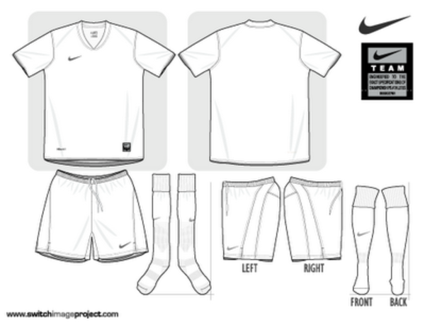 Blank football strip