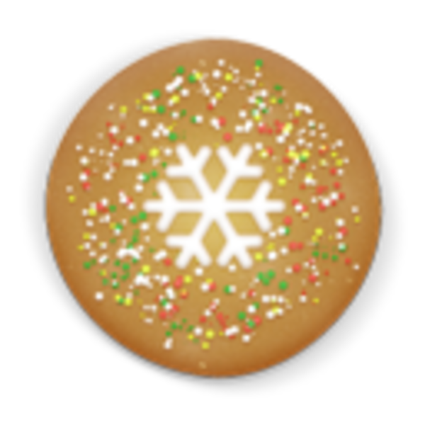 Christmas Cookie Round Icon | Free Images at Clker.com ...