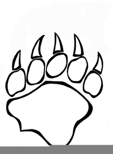 Paw Print Clipart Outline | Free Images at Clker com