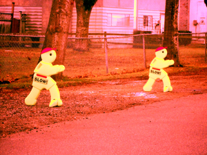 Slow Plastic Figures On Maddocks Road Image
