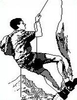Climbing Clipart Image
