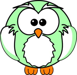 Green And White Owl Clip Art