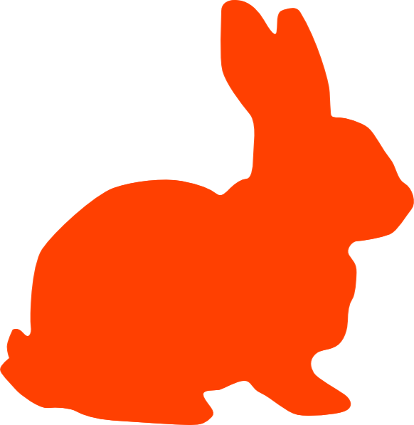 clipart image bunny silhouette - photo #27