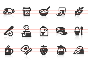 0079 Breakfast Icons Image