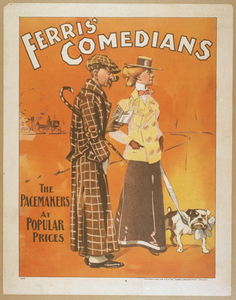 Ferris  Comedians The Pacemakers At Popular Prices. Image