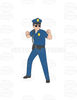 Old Police Officer Clipart Image