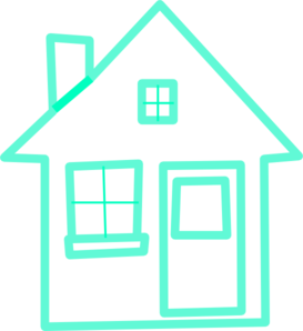 Very Light Turquoise House 3 Clip Art At