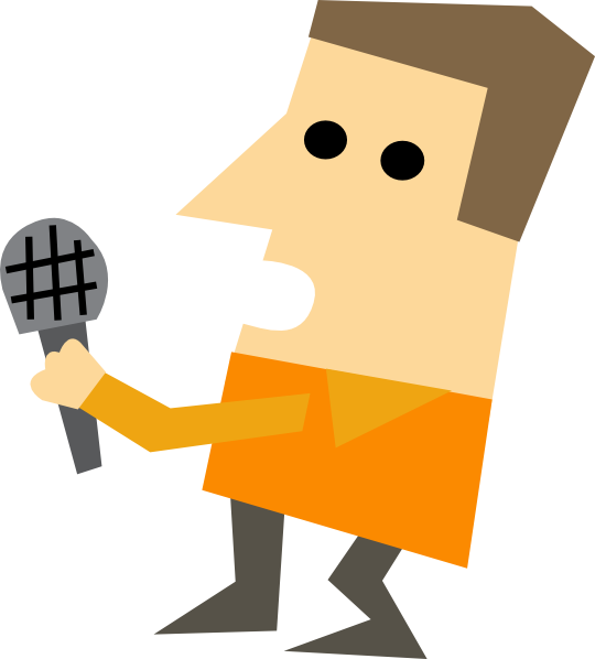 Reporter interview clipart