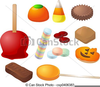 Halloween Candy Apple Clipart Image