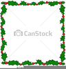 Free Christmas Clipart Holly Border Image