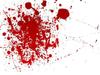 Blood Scarlet Red Splash Image