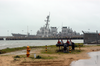 The U.s. Navy S Guided Missile Destroyer Uss Cole (ddg 67) Sits Moored At Pier 3 Naval Station Rota, Spain. Image