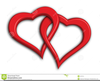 Two Heart Intertwined Clipart Image