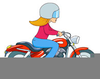 Motorcycle Riding Clipart Image