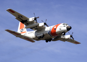 Hc-130 Aircraft From The U.s. Coast Guard Air Station Barbers Point, Hawaii, Performs A Homeland Security Flight Image