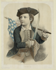 Young Boy Carrying American Flag And Sword Image