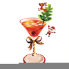 Holiday Martini Clipart Image