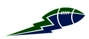Green And Blue Football Lightning Bolt Image