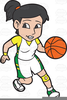 Free Female Basketball Players Clipart Image