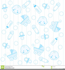 Baby Boy Christening Clipart Image