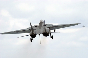 F-14 Tomcat Returns To The Sky After Missing Arresting Wire. Image