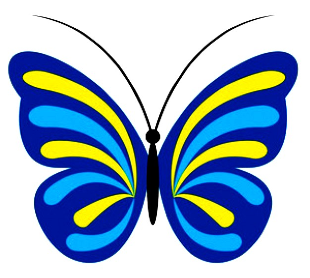 Blue And Yellow Butterfly | Free Images at Clker.com ... Yellow Butterfly Clipart