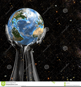 Earth And Space Clipart Image