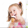 Clipart Of Girl Eating Ice Cream Image