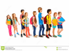 People Walking Singing Clipart Image