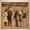 Percy G. Williams Presents The Four Mortons Breaking Into Society A Musical Farce In Three Acts. Image