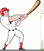 Baseball Players From Clipart Image