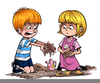 Kids Playing In Mud Clipart Image