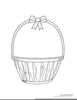 Easter Basket With Eggs Clipart Image