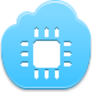 Free Blue Cloud Chip Image