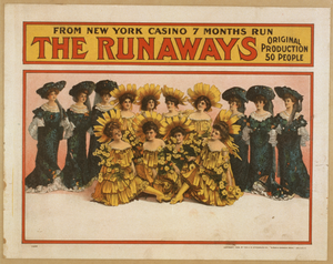 The Runaways From New York Casino, 7 Months Run : Original Production, 50 People. Image